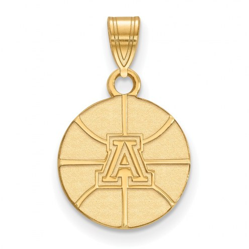 Arizona Wildcats Sterling Silver Gold Plated Small Pendant