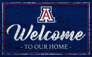 Arizona Wildcats Team Color Welcome Sign