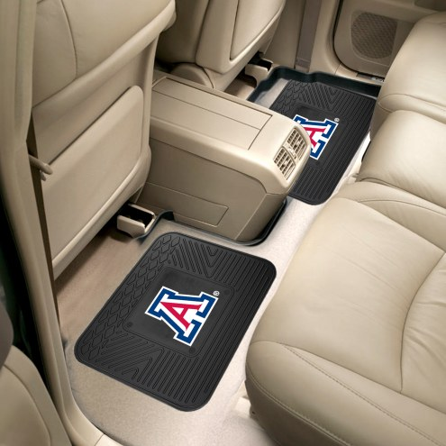Arizona Wildcats Vinyl 2-Piece Rear Floor Mats