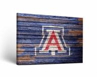 Arizona Wildcats Weathered Canvas Wall Art