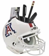 Arizona Wildcats White Schutt Football Helmet Desk Caddy