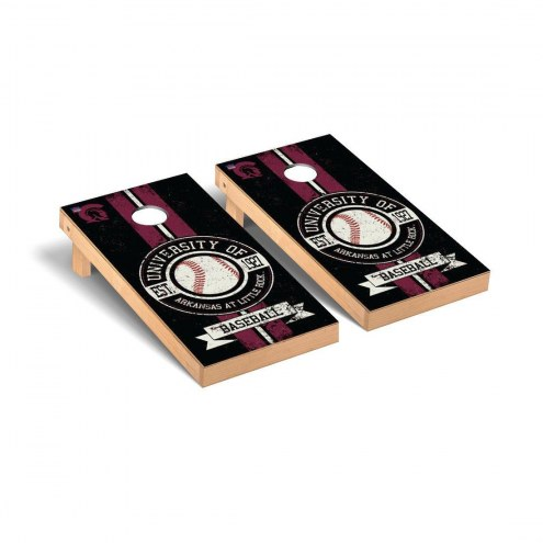 Arkansas Little Rock Trojans Baseball Vintage Cornhole Game Set