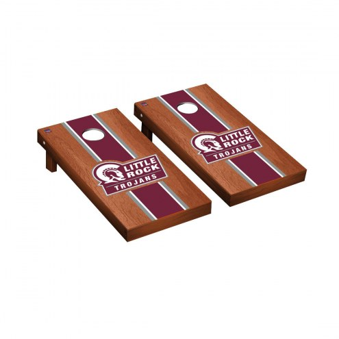 Arkansas Little Rock Trojans Rosewood Stained Cornhole Game Set