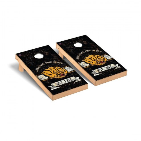 Arkansas-Pine Bluff Golden Lions Banner Vintage Cornhole Game Set