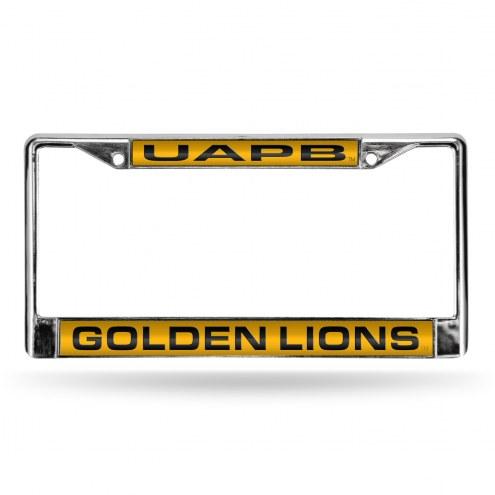 Arkansas-Pine Bluff Golden Lions Laser Chrome License Plate Frame