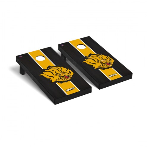 Arkansas-Pine Bluff Golden Lions Onyx Stained Cornhole Game Set