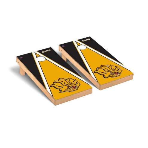 Arkansas-Pine Bluff Golden Lions Triangle Cornhole Game Set