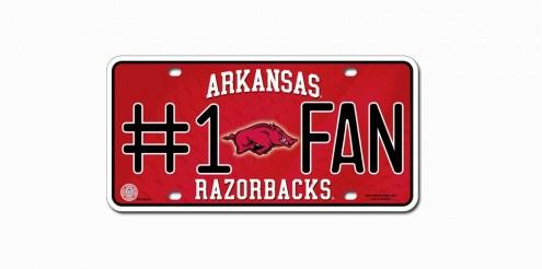 Arkansas Razorbacks #1 Fan License Plate