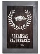 "Arkansas Razorbacks 11"" x 19"" Laurel Wreath Framed Sign"