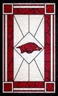 "Arkansas Razorbacks 11"" x 19"" Stained Glass Sign"