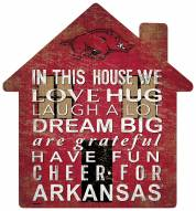"Arkansas Razorbacks 12"" House Sign"