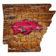 "Arkansas Razorbacks 12"" Roadmap State Sign"