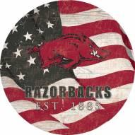 "Arkansas Razorbacks 12"" Team Color Flag Circle Sign"