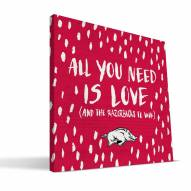 "Arkansas Razorbacks 12"" x 12"" All You Need Canvas Print"