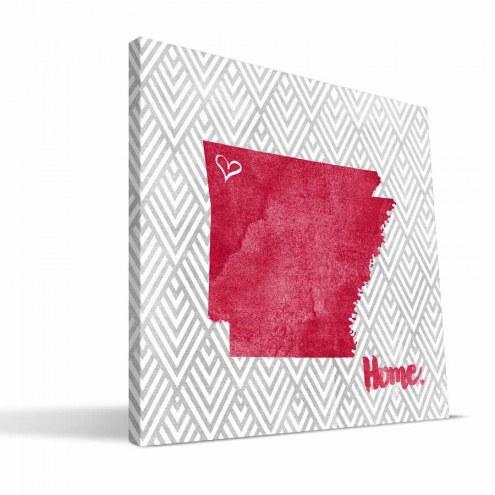"Arkansas Razorbacks 12"" x 12"" Home Canvas Print"