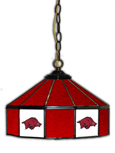 "Arkansas Razorbacks 14"" Glass Pub Lamp"