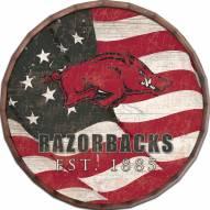 "Arkansas Razorbacks 16"" Flag Barrel Top"