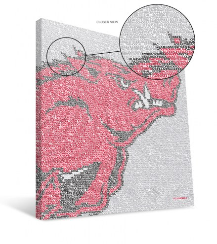 "Arkansas Razorbacks 16"" x 16"" Typo Canvas Print"