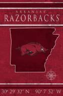 "Arkansas Razorbacks 17"" x 26"" Coordinates Sign"