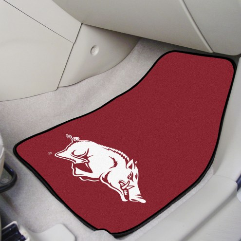 Arkansas Razorbacks 2-Piece Carpet Car Mats