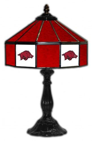 "Arkansas Razorbacks 21"" Glass Table Lamp"