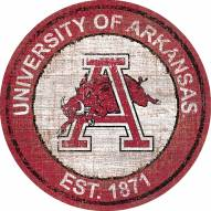"Arkansas Razorbacks 24"" Heritage Logo Round Sign"
