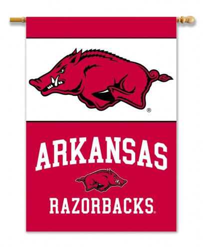 "Arkansas Razorbacks 28"" x 40"" Two-Sided Banner"