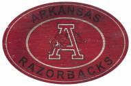 """Arkansas Razorbacks 46"""" Heritage Logo Oval Sign"""