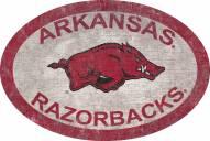 """Arkansas Razorbacks 46"""" Team Color Oval Sign"""