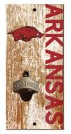 "Arkansas Razorbacks 6"" x 12"" Distressed Bottle Opener"