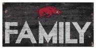 "Arkansas Razorbacks 6"" x 12"" Family Sign"