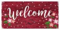 "Arkansas Razorbacks 6"" x 12"" Floral Welcome Sign"