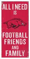 "Arkansas Razorbacks 6"" x 12"" Friends & Family Sign"