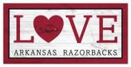 """Arkansas Razorbacks 6"""" x 12"""" Love Sign"""
