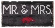 "Arkansas Razorbacks 6"" x 12"" Mr. & Mrs. Sign"