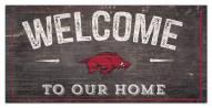 "Arkansas Razorbacks 6"" x 12"" Welcome Sign"