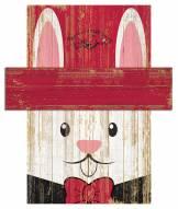 """Arkansas Razorbacks 6"""" x 5"""" Easter Bunny Head"""