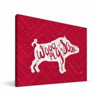 "Arkansas Razorbacks 8"" x 12"" Mascot Canvas Print"