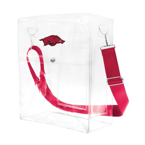 Arkansas Razorbacks Clear Ticket Satchel