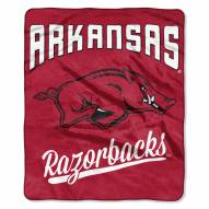 Arkansas Razorbacks Alumni Raschel Throw Blanket