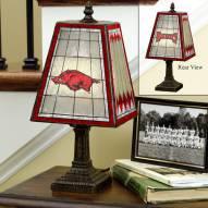 Arkansas Razorbacks Art Glass Table Lamp