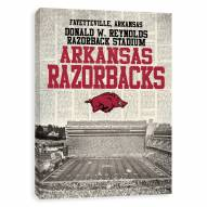 Arkansas Razorbacks Newspaper Stadium Printed Canvas