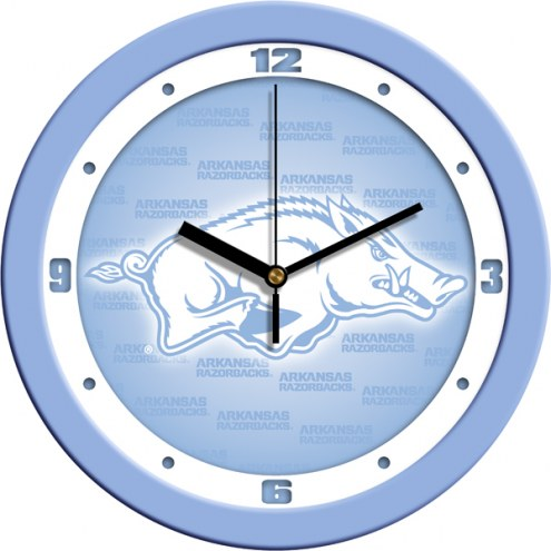 Arkansas Razorbacks Baby Blue Wall Clock