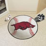 Arkansas Razorbacks Baseball Rug