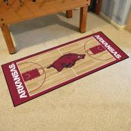 Arkansas Razorbacks Basketball Court Runner Rug