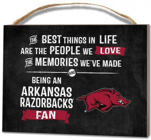 Arkansas Razorbacks Best Things Small Plaque