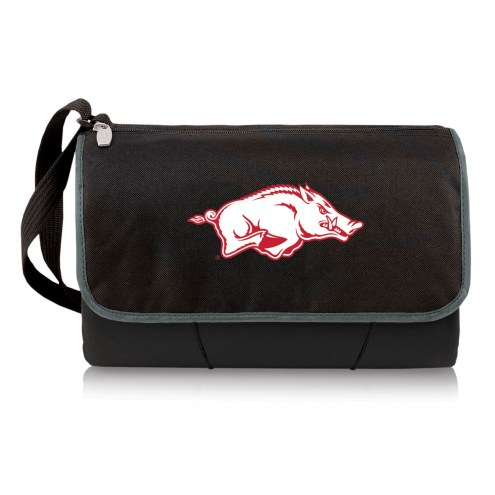 Arkansas Razorbacks Black Blanket Tote