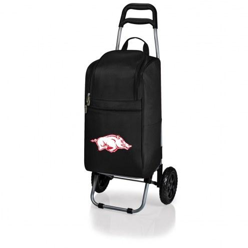 Arkansas Razorbacks Black Cart Cooler