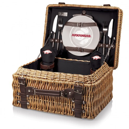 Arkansas Razorbacks Black Champion Picnic Basket