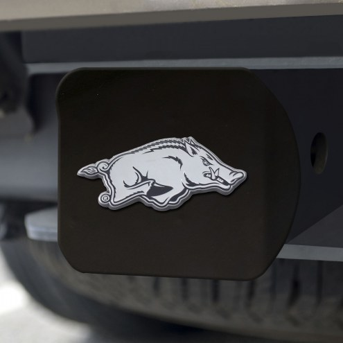 Arkansas Razorbacks Black Matte Hitch Cover